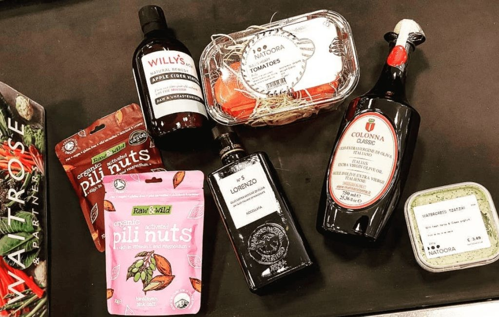 Some of the available products in waitrose