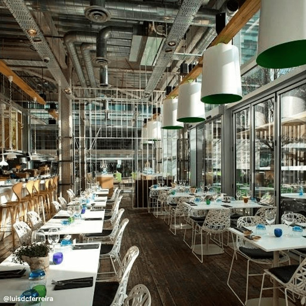 The Parlour, one of the best restaurants in Canary Wharf.