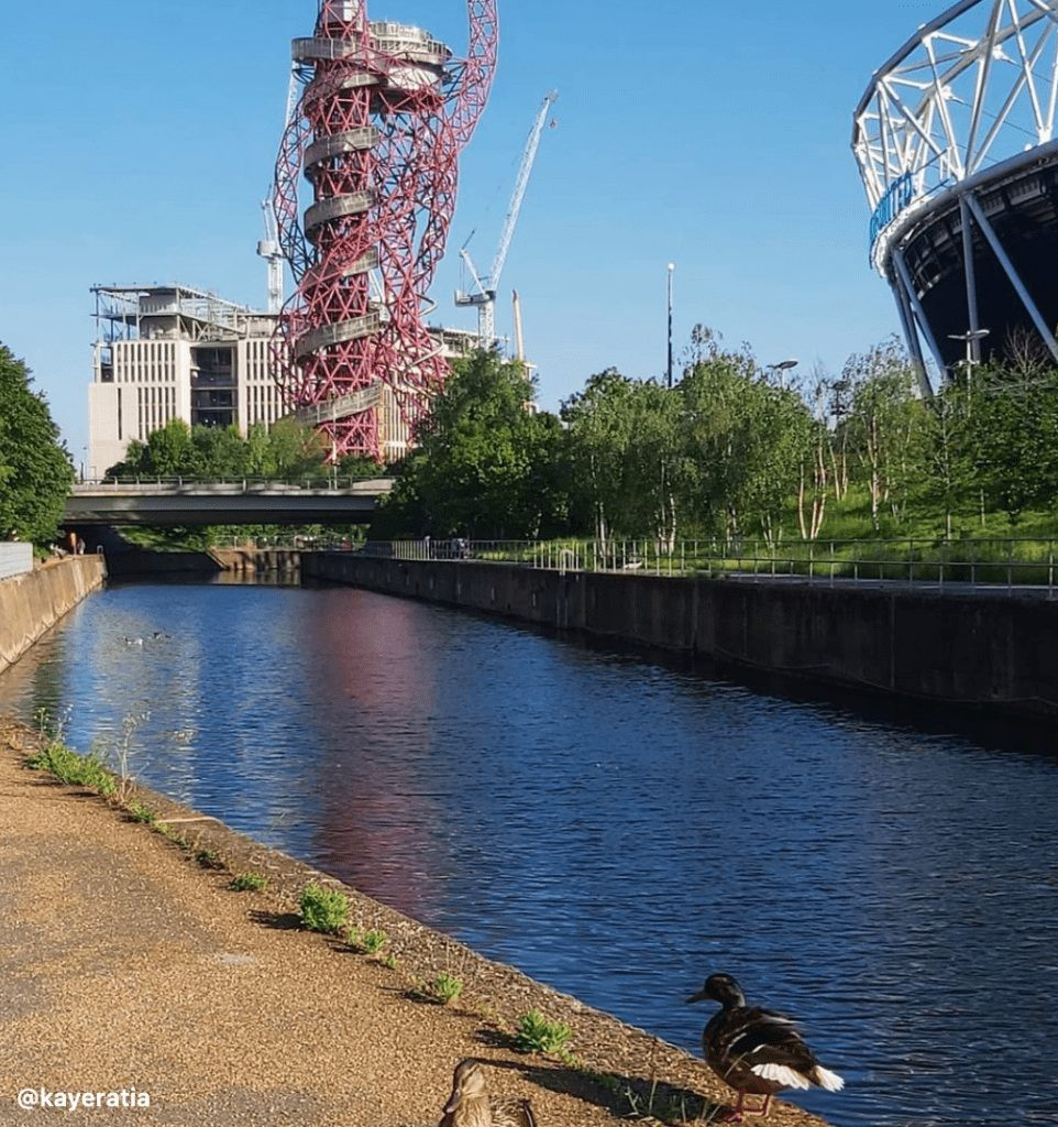 Queen Elizabeth Olympic Park in Canary Wharf
