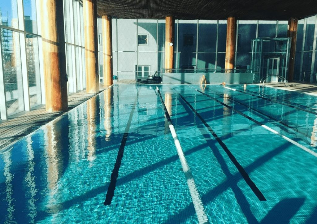 Taking a dip at Virgin Active in canary wharf