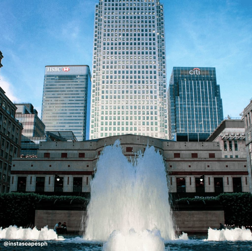 Jubilee Park in Canary Wharf