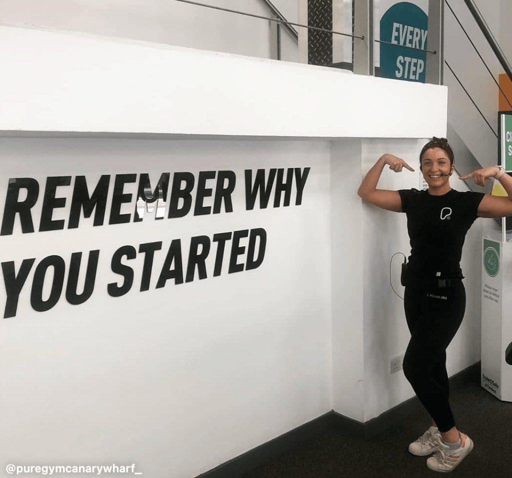A fitness fanatic at Pure Gym
